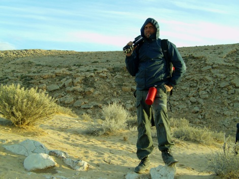 John Brito on Nostromo science fiction shoot in Tunisia