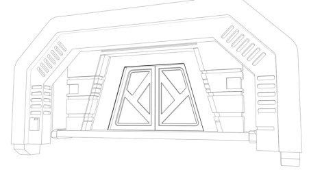 outline rendering for animated science fiction short film by John Brito