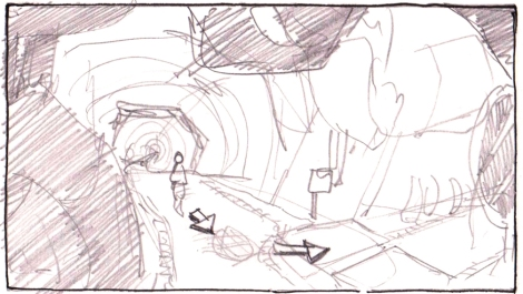 scribble for chamber for animated science fiction short film by John Brito