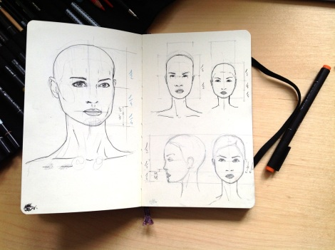 face scribble by John Brito, test for graphic novel