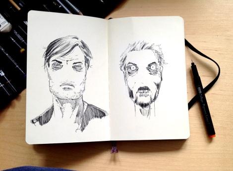 horror graphic novel comic sketch by John Brito