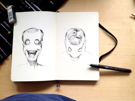 sketch for a horror graphic novel by John Brito