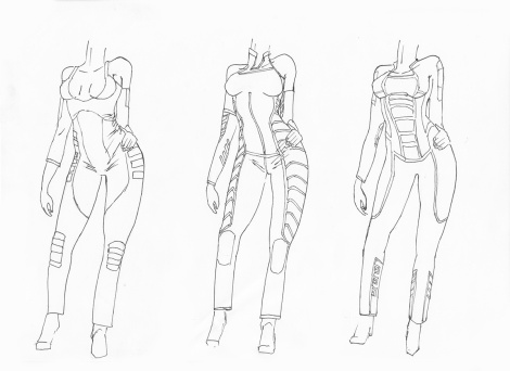 costume design for animated science fiction short film
