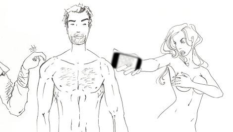 Eva seducing Adam