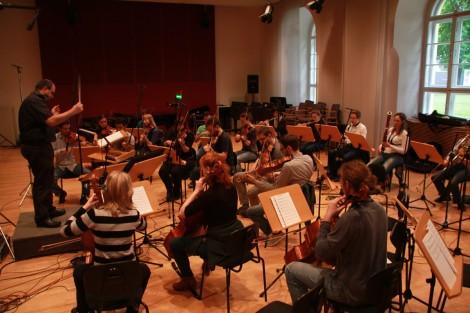 Composer Bernhard Eder orchestrating Nostromo