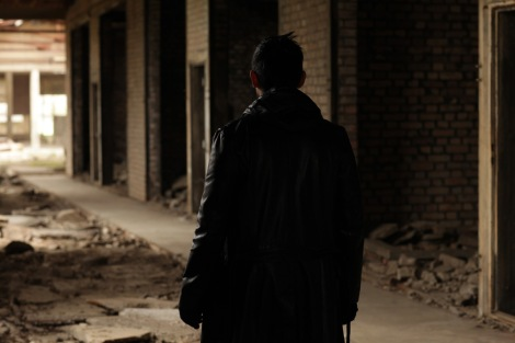 filming in an abadoned destroyed factory