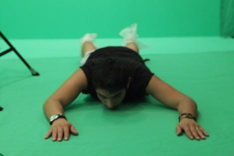 green screen for science fiction short film