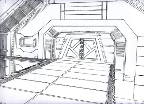 science fiction short film concept design of an air lock