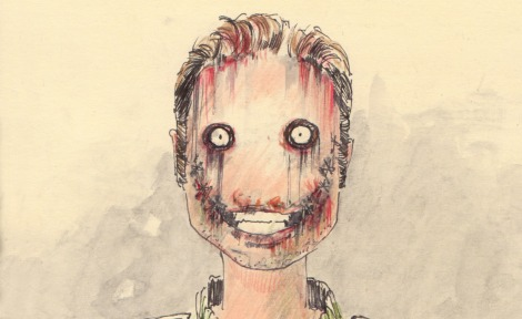 sketch of a science fiction horror film character