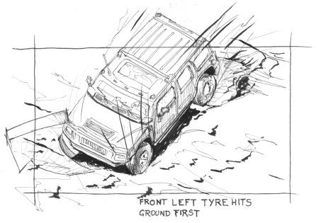 Hummer spec storyboard by John Brito
