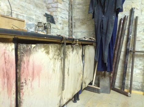 horror short film The Cellar set dressing