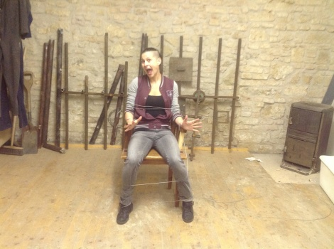 horror short film The Cellar set dressing