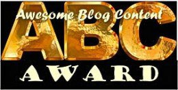 The ABC Award: Awesome Blog Content Award