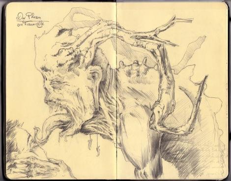 dark fairy illustration by director John Brito