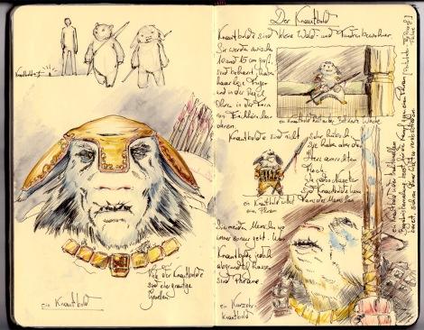 illustration of a fairy, a Knautbold by director John Brito