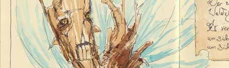 wood fairy illustration by director John Brito