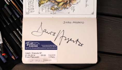 autograph by Dario Argento