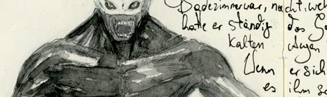 demon sketchbook illustration by director John Brito