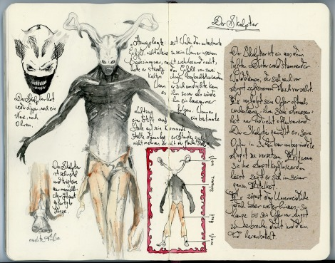 demon sketchbook illustration by director John Brito