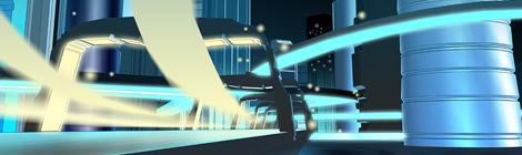 science fiction future city concept by John Brito
