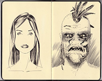 sketchbook director John Brito graphic novel