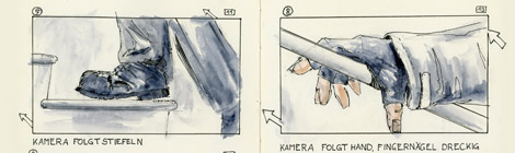 storyboard for horror short film The Ballerina by John Brito
