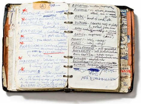 notebook of Nick Cave