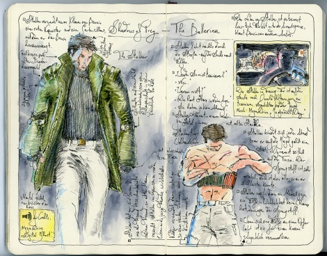 thriller short film character sketch for web series by John Brito
