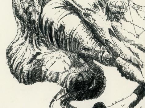 fantasy science fiction story sketch by John Brito