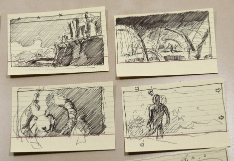 director John E. Brito's sketches for a postapocalyptic film Project 12