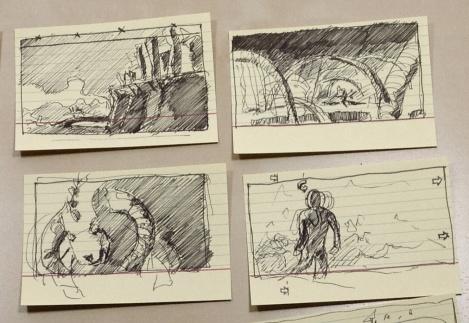 director John E. Brito's sketches for a postapocalyptic film Project 12