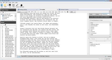 celtx script for a children's book fairytale by John E. Brito