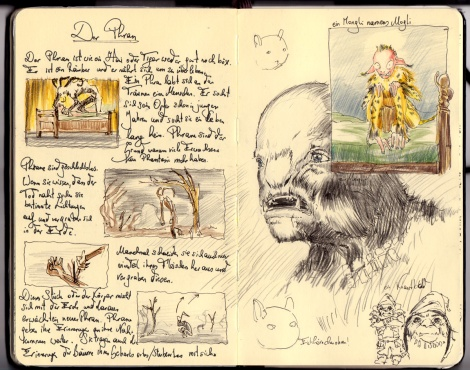 director John E. Brito's sketch for a fairytale