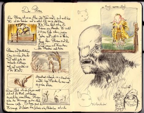 director John E. Brito's sketch for a fairytale