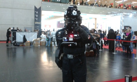 Star Wars Tie Fighter pilot at Vienna Comic Con 2015