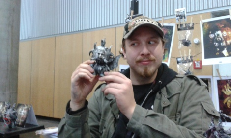 sculptor at Vienna Comic Con 2015