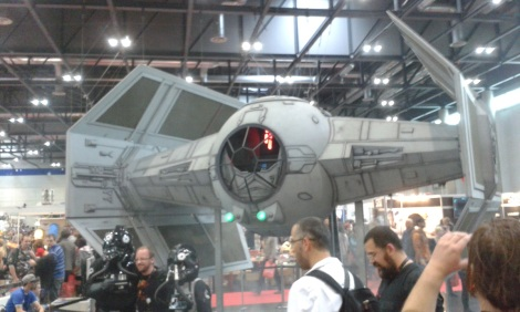 Tie fighter at Vienna Comic Con 2015