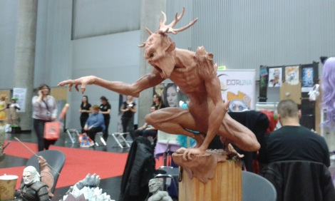 creature sculpture at Vienna Comic Con 2015