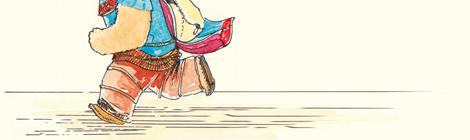 fairy creature from a children's book running, by John E. Brito