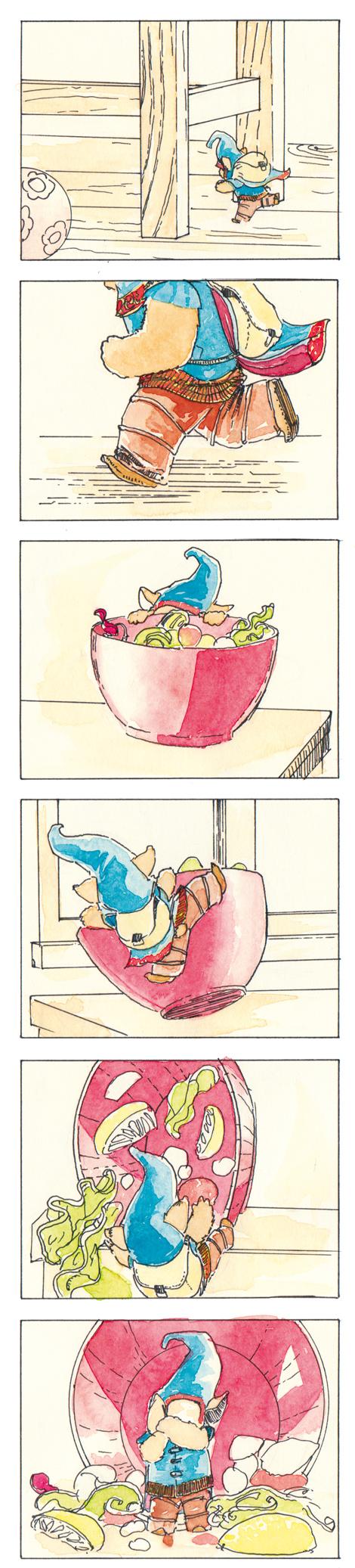 fantasy children's book illustration depicting a fairy creature kobold by John E. Brito