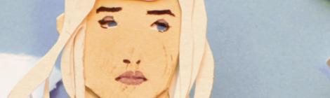 Daenerys Targaryen fanart papercut illustration by John E. Brito