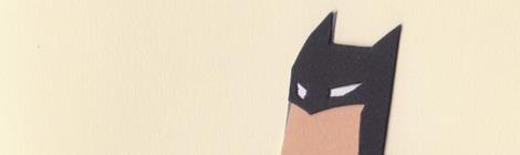 Batman paper cutout illustration by children`s book author John E. Brito