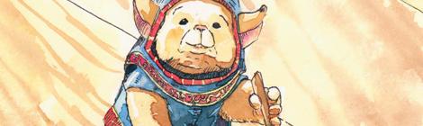 Cover illustration for a fairytale fantasy children's book by John E. Brito