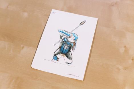 original children`s book illustration of a Knautbold fantasy creature by John E. Brito