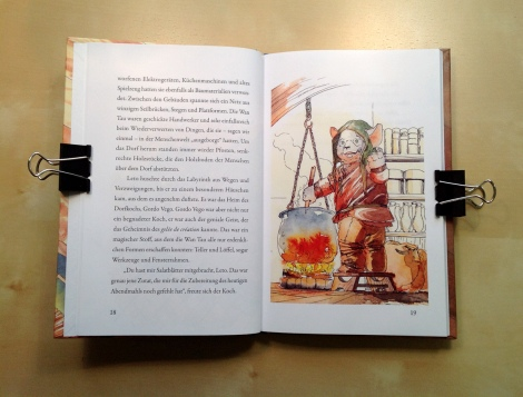 fantasy children`s book with beautiful watercolour illustrations by John E. Brito