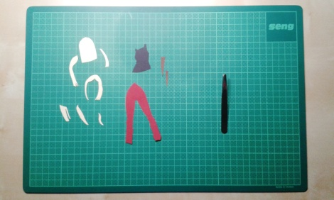 work in progress papercut illustration of Buffy the vampire slayer by children`s book author John E. Brito