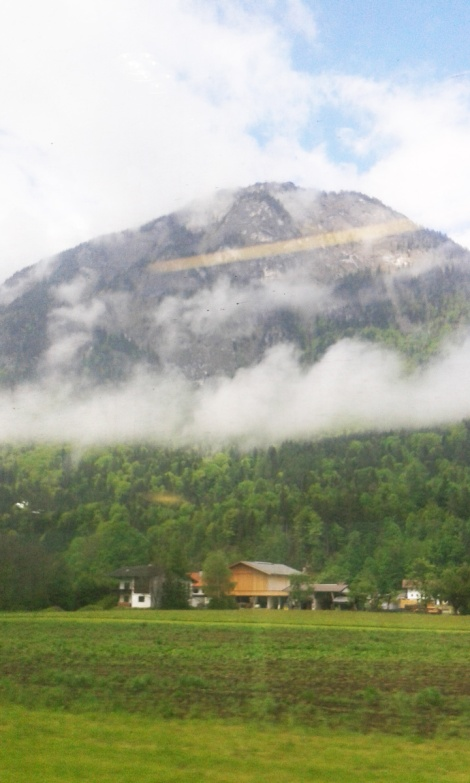 misty mountains in Austria