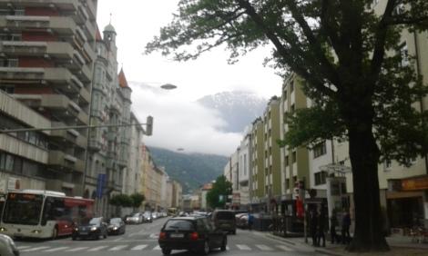 misty mountains in Innsbruck