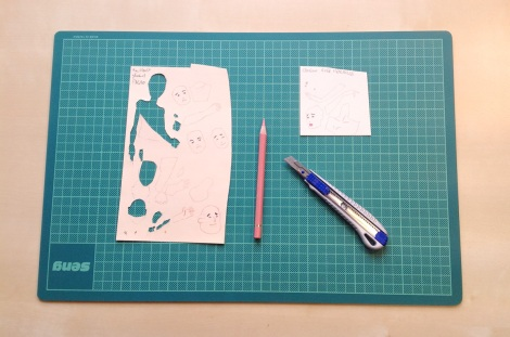 creating a paper cut illustration by children`s book author John E. Brito