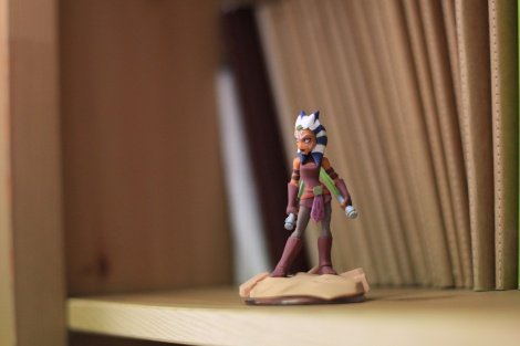 Writer artist John E. Brito´s workspace with infinity figure Ashoka Tano